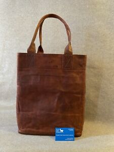 Leather Tall Tote Bag T-TOTE YKK Zip Billy Goat Designs
