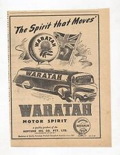 Waratah Motor Spirit Petrol Advertisement from 1948 Australian Magazine Neptune