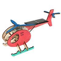 Mini Solar Plane Assembled Toy Kids Educational Science Experiment DIY Gift E0Xc