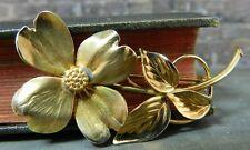 Vintage Harry S. Bick (HSB) 12K Gold Filled Flower Pin/ Brooch