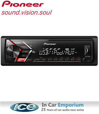 Pioneer MVH-S110UB car stereo, MP3 front USB AUX Plays iPod iPhone