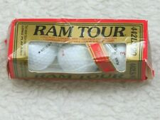 New Ram Tour White Golf Balls 3-Pack Lithium Surlyn Cover Long Play Carry 442LS