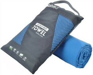 Rainleaf Microfiber Anti-Bacterial Super Soft Towel Blue (40 x 72 inches)