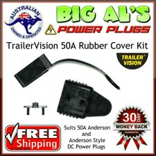 *BLACK* TrailerVision 50 Amp Anderson Plug RUBBER COVER KIT Dust End Cap