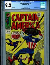 Captain America #105 CGC 9.2 NM- 1968 Marvel Comics Amricons B12