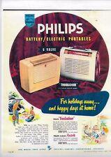 "1950'S PHILIPS TUBE RADIO ""Trobladour"" FULL COLOUR A4 COPY of original AD IN A4"