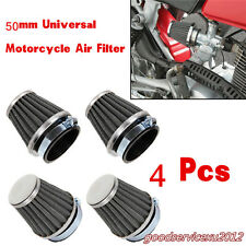 4 Pcs Black Round Tapered Motorcycle Mushroom Air Filters Cleaner Tool Universal