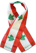 "Lebanon Country Lightweight Flag Printed Knitted Style Scarf 8""x60"""
