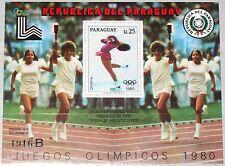 Paraguay 1979 blocco 338 1903 inverno Olympics 1980 Lake Placid Figure Skating MNH