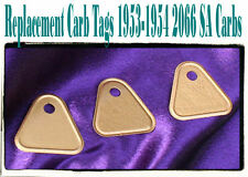 Corvette 2066 SA carb tags set of 3  reproduction 1953 1954
