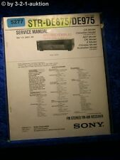 Sony Service Manual STR DE875 /DE975 FM/AM Receiver (#5277)