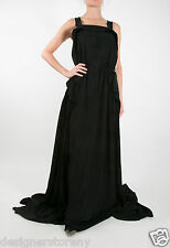 Bottega Veneta Black Draped Gown Dress Open Black MSRP $3950 size 42