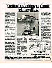 PUBLICITE  1977   AIRLUX   hotte aspirente