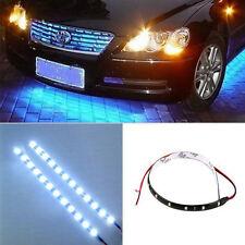 Blue 30cm 15 LED Motorcycle Waterproof Flexible Strip 12V Car Flexible Light