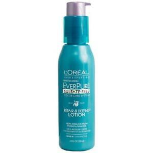 L'Oreal EverPure Sulfate Free Color Care System Repair & Defend Lotion 4.2 FL OZ