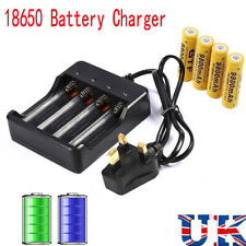4 18650 Batteries 6800mAh 3.7V Li-ion Rechargeable Battery Slots Charger GB