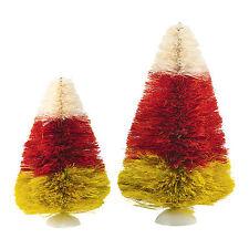 SVH Candy Corn Trees Snow Village Halloween Dept 56 4047625 NEW 2015 Sisal