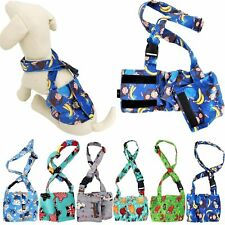 Dog BELLY BAND Wrap Diaper Male Reusable Washable SOFT Fleece With SUSPENDERS