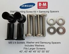 "M8 Wall Mount Screws Kit + spacers Samsung K,M,N & RU Series LED QLED 40"" +"