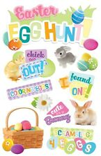 Easter Egg Hunt Chick This Out Coloring Eggs Cute Bunny Paper House 3D Stickers