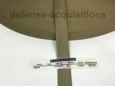 MilSpec Military Webbing 3/4 INCH MIL-20614 COYOTE Per Yard