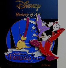 Disney Japan Pin * History of Art - Sorcerer Mickey Fantasia 1940 * LE 1800