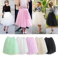 Princess Women 5 Layers Tulle Ballet Circle A Line Flare Gauze Tutu Fairy Skirt