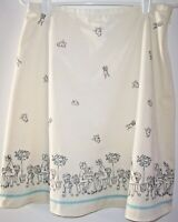 Ann Taylor Loft White Outdoor Cafe Scene Skirt 10 Petite Embroidered Accents