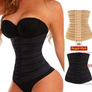 WAIST TRAINER CORSET Breathable Tummy Girdle Belt Sport Body Shaper Control UK