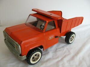 Vintage 1970-71 Tonka Toys Pressed Steel Orange Dump Truck #2315 VG