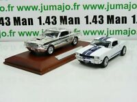 lot 2 VOITURES 1/43 IXO  FORD Mustang SHELBY 350 GT civile + chrome