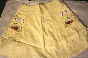 Gymboree STRAWBERRY FARM Vintage NWT 12 Yellow/white flare skort