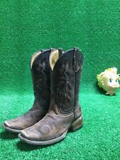 Teen Corral Boots Size 3T Some Damage Used Look Cowboy Western Horse Girls Kids