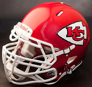 *CUSTOM* KANSAS CITY CHIEFS NFL Riddell Full Size SPEED Football Helmet