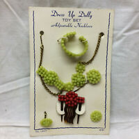 Vtg Toy Doll Accessory Necklace Bracelet Earrings Hair Accessory Dress Up Dolly