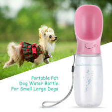 Pet Dog Cat Puppy Water Bottle Dispenser Travel Feeder Tray Bowl Portable Cup