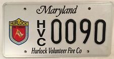 Maryland Dorchester County FIREFIGHTER license plate Fire Co Fighter Fireman 90