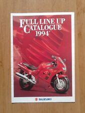 catalogue brochure gamme moto SUZUKI 1994