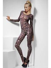 Catsuit sexy Stretchanzug Dessous Leopard Cheetah Ganzkörper
