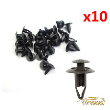 10x Push Type Inner Fender Shield Clip Nylopn Retainer For Nissan Ford Mazda 6