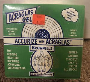 Acraglas Gel Brownells Epoxy Gunsmith Quality complete kit NIB Sealed