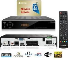 ATTIVATO / Aktiviert Tivusat Karte+Full HD Sat Receiver inkl HDMI Kabel Angebot