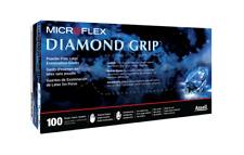 Microflex Diamond Grip, Latex Gloves Medium 100 per box - Free Shipping