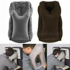 Inflatable Air Filled Airplane Cushion Neck Comfortable Support Pillow Travel