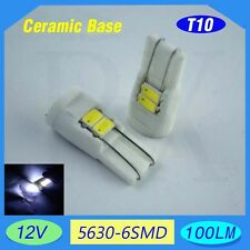 4x T10 W5W 501 Xenon White High Power 2W LED Interior Wedge Side Light Bulb