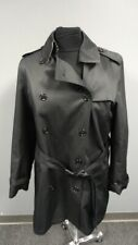 BURBERRY BRIT Black Wool Double Breasted Coat W Removeable Lining Size 14 GG0758