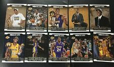 2017-18 Panini NBA Hoops Kobe Bryant Base 10 Card Career Tribute Completed Set