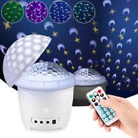 LED Projector Lamp Moon Sky Starry Star Night Light Baby Kids Bedroom Decoration