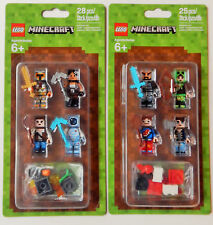 LEGO MINECRAFT Minifigures 2X Skin Pack:  #853609 + #853610