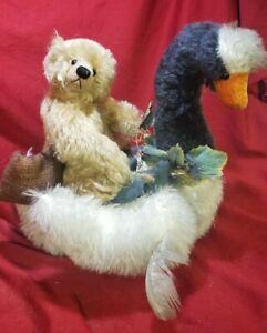 """Sandy Hudson """"Fa Fi Fo Fum"""" artist teddy bear swan mohair LE Red Land Bear"""